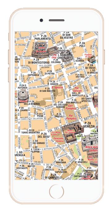 Cartina Dettagliata Roma.Mappa Di Roma Pdf Vettoriale E Tiff Da Stampare Edimap