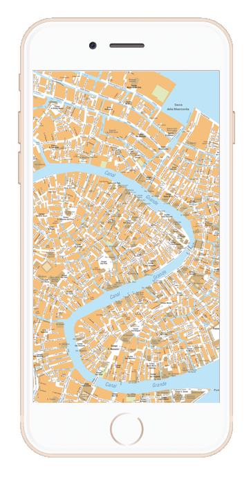Cartina Venezia Download.Mappa Di Venezia Pdf Vettoriale Con Monumenti 3d Edimap