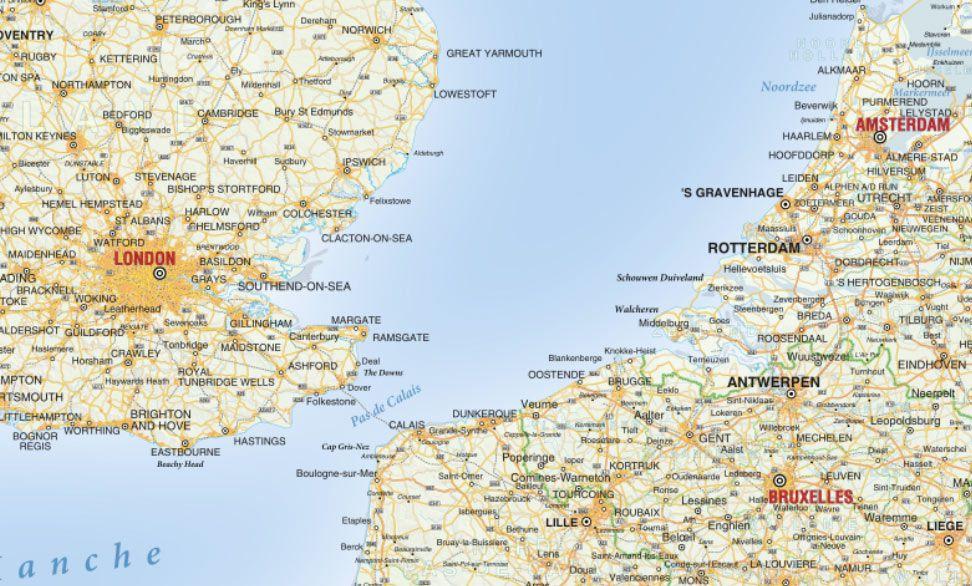 Cartina Stradale D Europa.Carta Stradale Dell Europa Da Stampare In Grande Formato