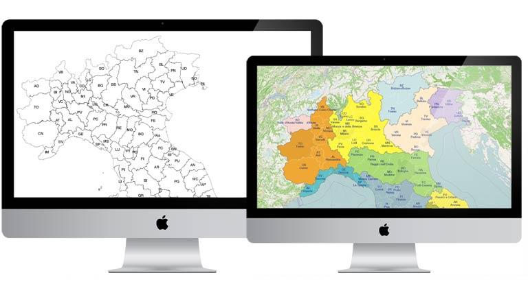 Cartina Italia Modificabile.Cartina Dell Italia Politica Pdf Vettoriale E Kml Edimap