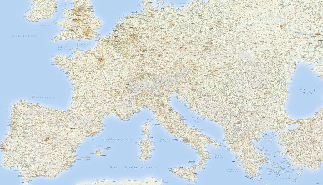 Cartina Stradale Toscana Dettagliata.Carta Stradale Dell Europa Da Stampare In Grande Formato Edimap