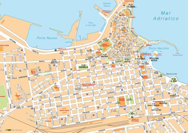 Bari Cartina Geografica.Cartine Delle Citta Da Scaricare E Stampare Edimap