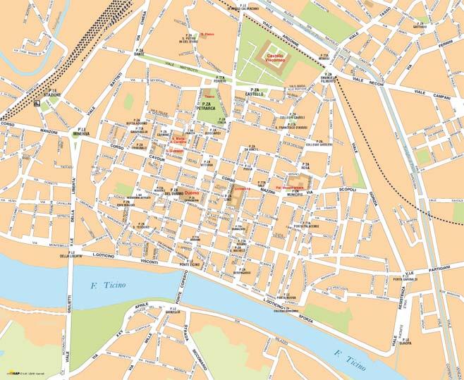 Pavia Cartina.Cartine Delle Citta Da Scaricare E Stampare Edimap