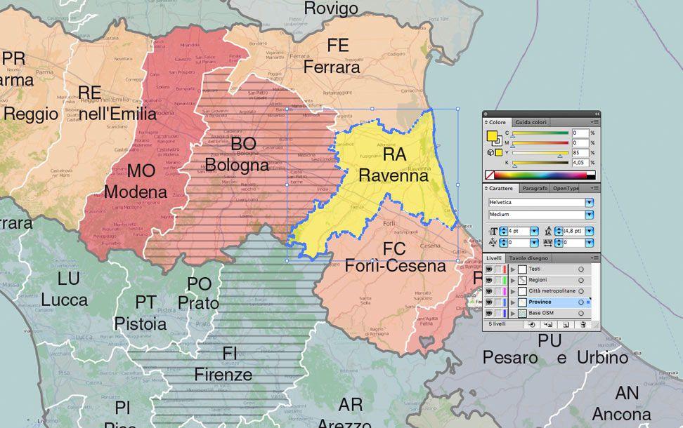 Cartina Italiana Con Tutte Le Province.Cartina Dell Italia Politica Pdf Vettoriale E Kml Edimap