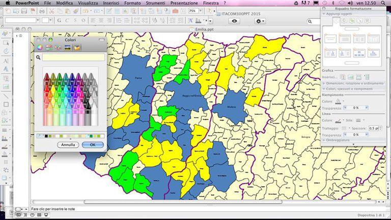 Cartina Italia Confini Regioni.Le Mappe Con I Confini Dei Comuni In Powerpoint Edimap