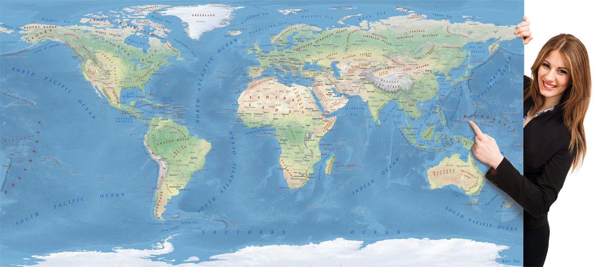 Cartina Geografica Del Mondo Fisica.Carte Geografiche E Atlanti Del Mondo Da Stampare Edimap