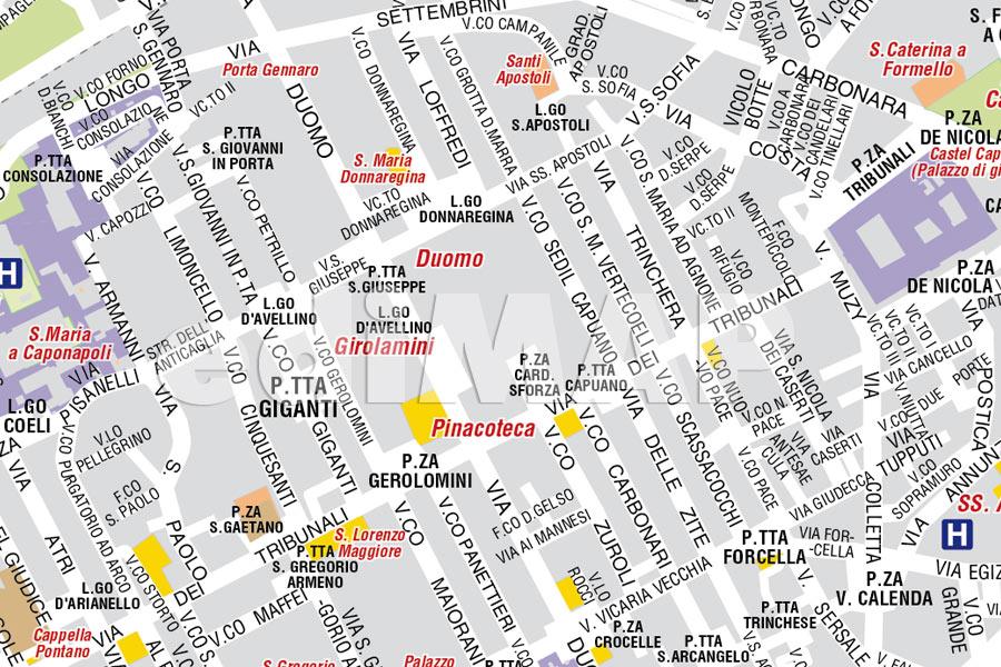 Cartina Monumenti Napoli.Mappa Di Napoli Pdf Turistica Da Stampare Edimap