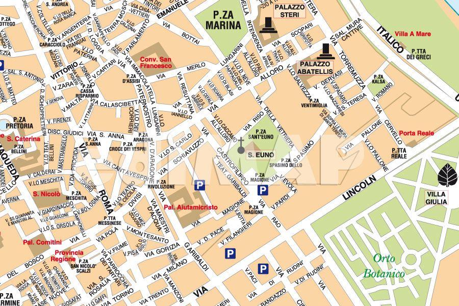 Cartina Di Venezia Con Vie.Cartina Turistica Palermo Da Stampare