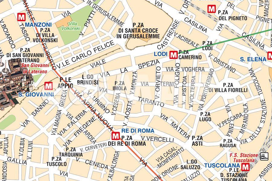 Cartina Metropolitana Roma Pdf.Mappa Di Roma Pdf Vettoriale E Tiff Da Stampare Edimap