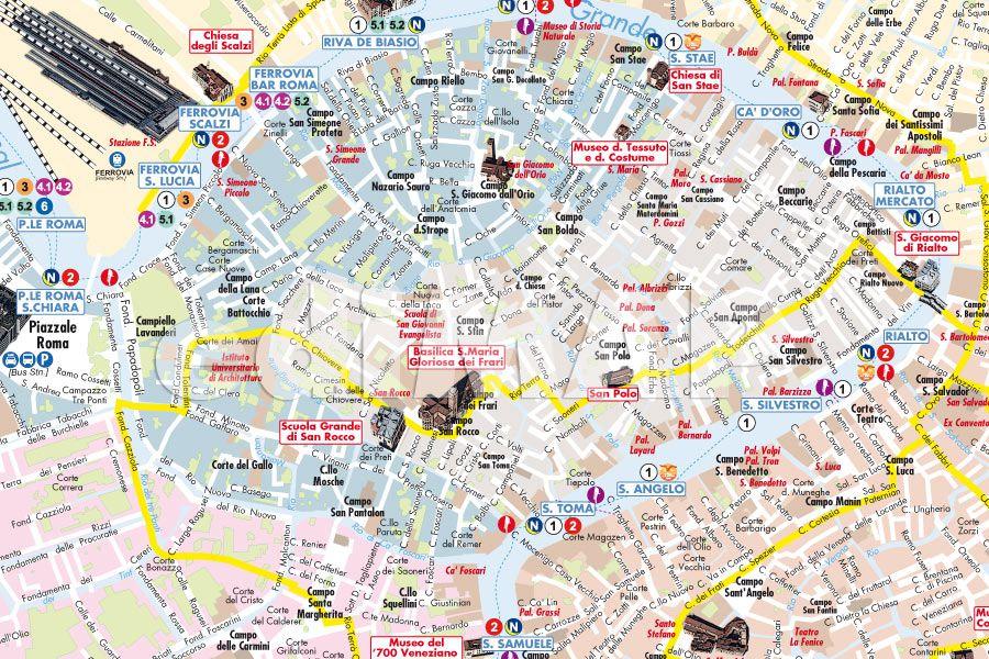 Cartina Turistica Venezia Pdf.Mappa Di Venezia Pdf Vettoriale Con Monumenti 3d Edimap