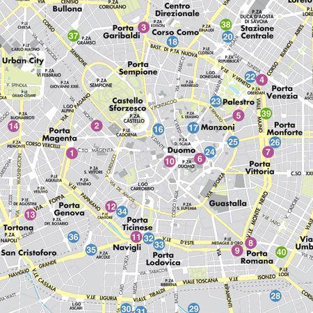 Mappa di milano pdf vettoriale e tiff in alta risoluzione for Negozi arredamento milano centro