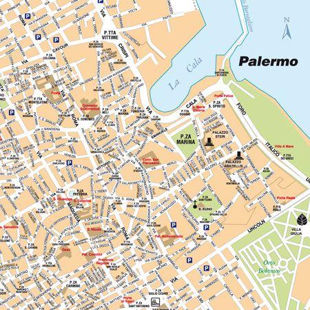 Cartina Di Firenze Con Tutte Le Vie.Mappa Di Palermo Pdf E Tiff Per La Stampa Edimap