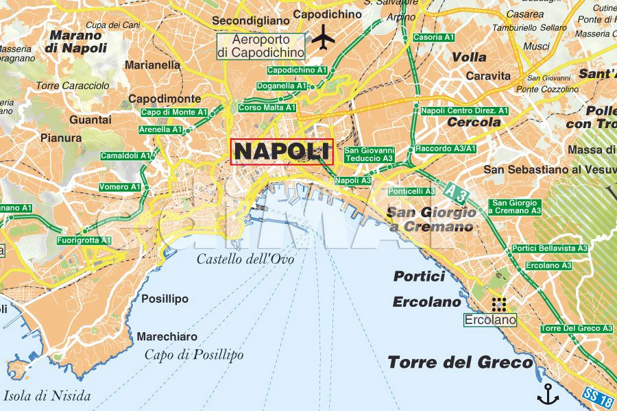 Cartina Turistica Napoli Centro.Mappa Di Napoli Pdf Turistica Da Stampare Edimap