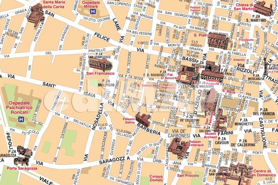 Bologna Cartina Quartieri.Mappa Di Bologna Pdf Vettoriale E Personalizzata Edimap