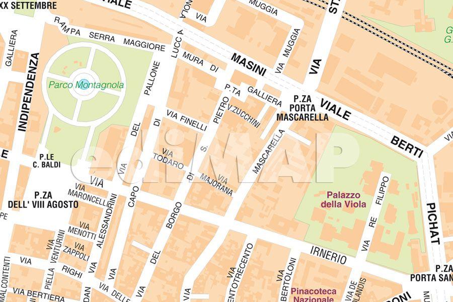 Turistica Bologna Cartina.Mappa Di Bologna Da Scaricare Cartina E Mappa Stradale Bologna Tuttocitta