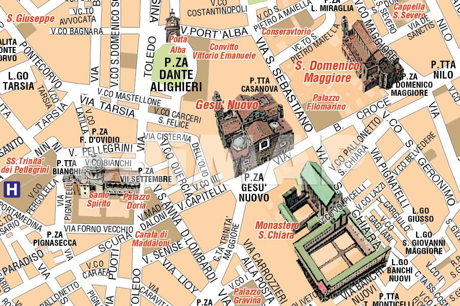 Cartina Napoli Da Stampare.Mappa Di Napoli Pdf Turistica Da Stampare Edimap