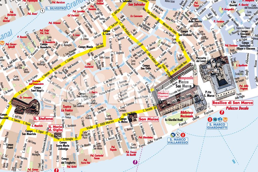 Cartina Pdf Venezia.Mappa Di Venezia Pdf Vettoriale Con Monumenti 3d Edimap