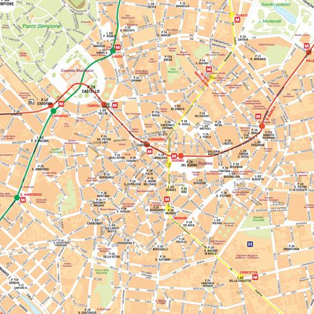 Cartina Milano Con Metro.Mappa Di Milano Pdf Vettoriale E Tiff In Alta Risoluzione Edimap