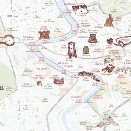 Cartina Roma Da Stampare.Mappa Di Roma Pdf Vettoriale E Tiff Da Stampare Edimap