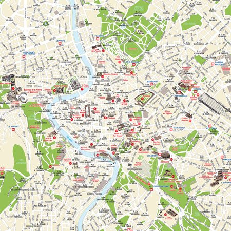 Cartina Monumenti Roma Pdf.Mappa Di Roma Pdf Vettoriale E Tiff Da Stampare Edimap