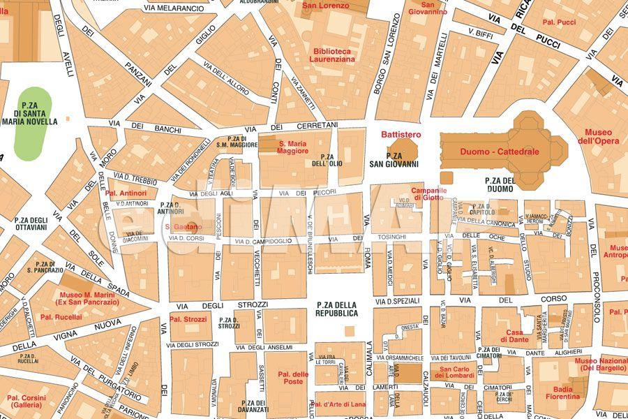 Cartina Firenze Santa Maria Novella.Mappa Di Firenze Pdf Vettoriale Con I Monumenti 3d Edimap