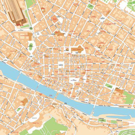 Cartina Di Firenze Centro Da Stampare.Mappa Di Firenze Pdf Vettoriale Con I Monumenti 3d Edimap