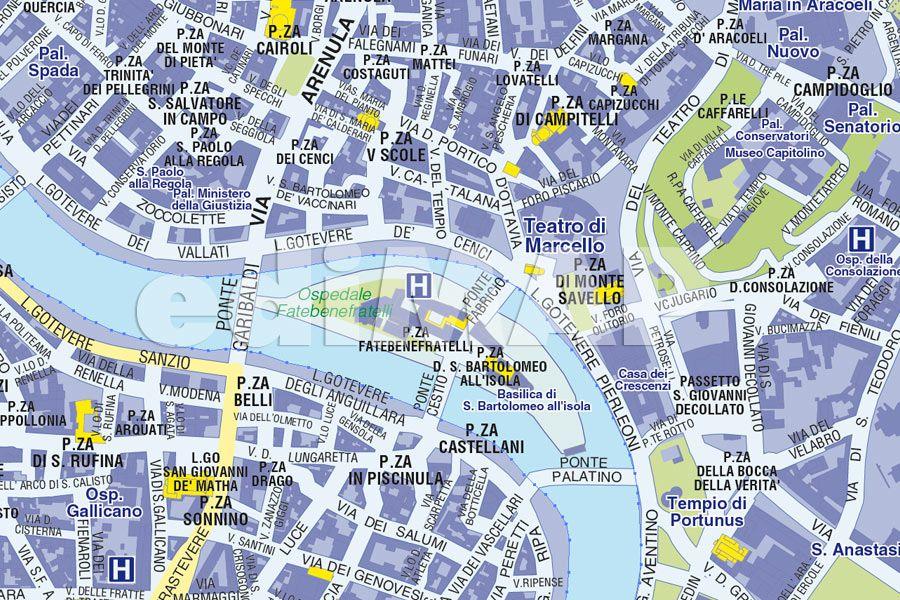 Roma Centro Cartina.Mappa Di Roma Pdf Vettoriale E Tiff Da Stampare Edimap