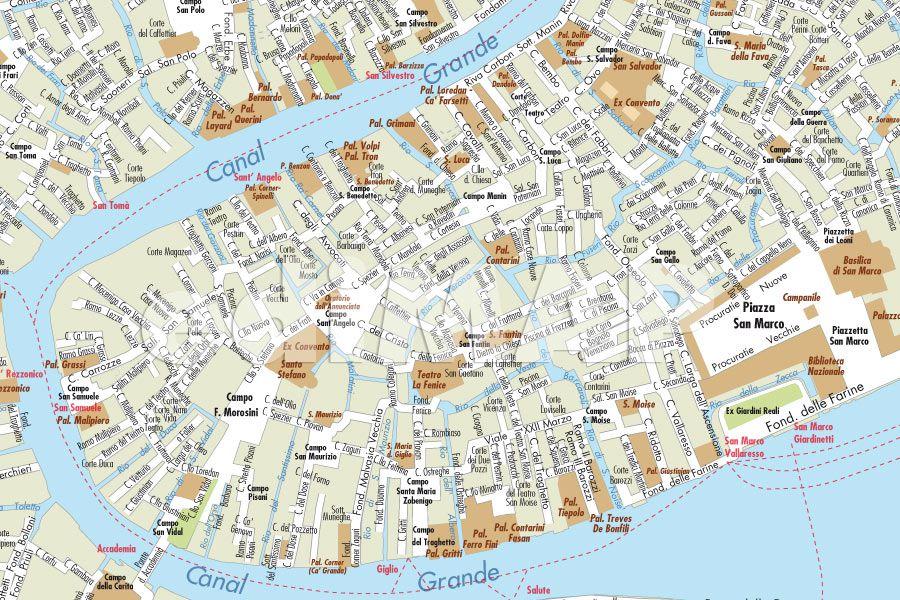 Cartina Venezia Centro Storico.Mappa Di Venezia Pdf Vettoriale Con Monumenti 3d Edimap