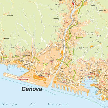 Genova Cartina.Mappa Di Genova Pdf Vettoriale Con Monumenti 3d Edimap