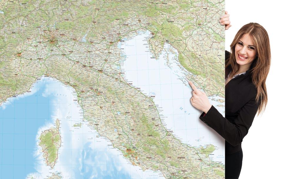 Cartina Dell Italia Stradale.La Carta D Italia Personalizzata Per La Tua Azienda Edimap