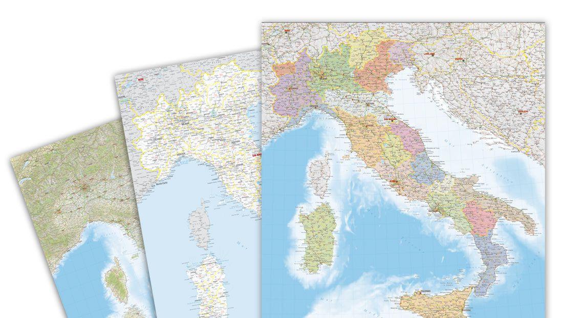 Cartina Stradale Di Italia.La Carta D Italia Personalizzata Per La Tua Azienda Edimap